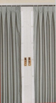 Pleated Curtains For Curtain Box : Inverted Pleat Drapery Panels Box pleat curtains blind curtain making